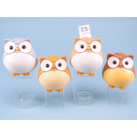 Bright owl moneybox