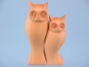 Owl pair - wood finish