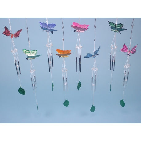 Metallic Finish Butterfly Chimes
