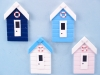 Beach Hut Fridge Magnet