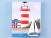 Lighthouse & yacht magnet