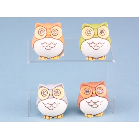 Mini colourful owls