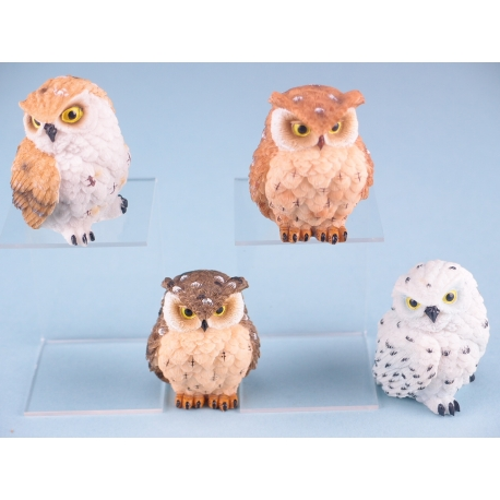 Ruffled Feather Owls