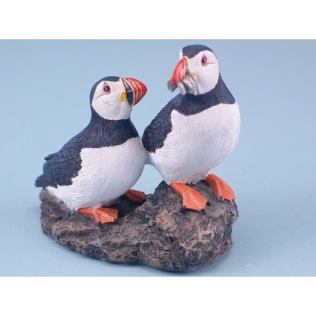 Puffin Pair on Rock