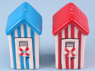 Beach hut salt & pepper set