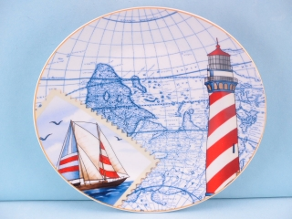 Porcelain Nautical Plate