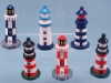 Wooden Handpainted lighthouses in six different designs. 10cm