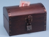 Wooden Treasure Chest with Lock. 14 x 9 x 9cm