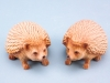 Wood effect hedgehogs - 8cm