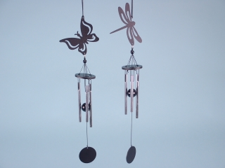 Butterfly & Dragonfly silhouette chimes - 33cm
