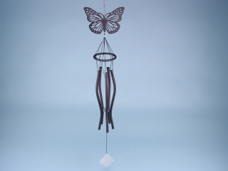 Butterfly silhouette chime - 78cm