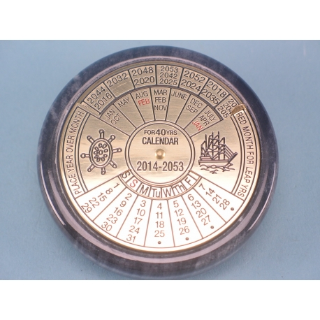 40 Year Calendar Paperweight