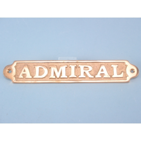 Brass Plaque Admiral