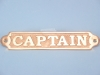 Brass Plaque Captain