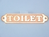 Brass Plaque Toilet