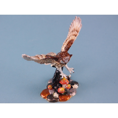 Cloisonne Flying Owl