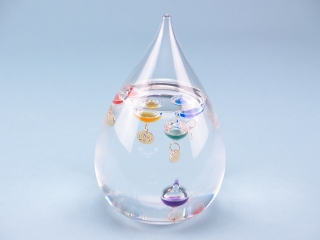 Tear drop galileo thermometer