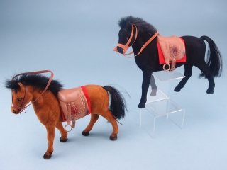 Pony with Saddle & Red Cloth