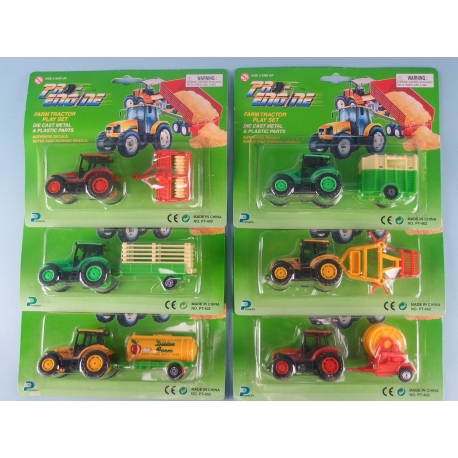 Mini Tractor & Trailer Playset