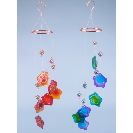 Glass Flower Mobile & Chime