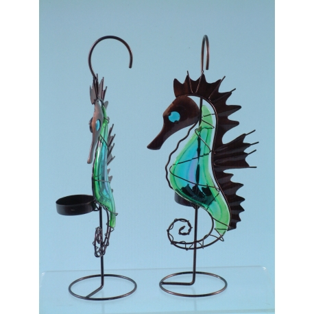 Seahorse tea light holder