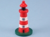 Red & White WoodenLighthouse - 8cm