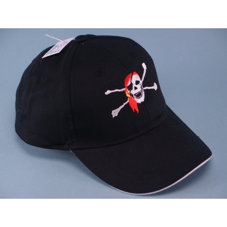 Childs Pirate Embroidered Cap