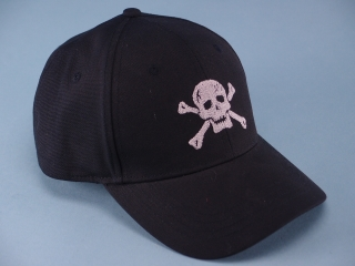 6 Panel Embroidered Pirate Cap