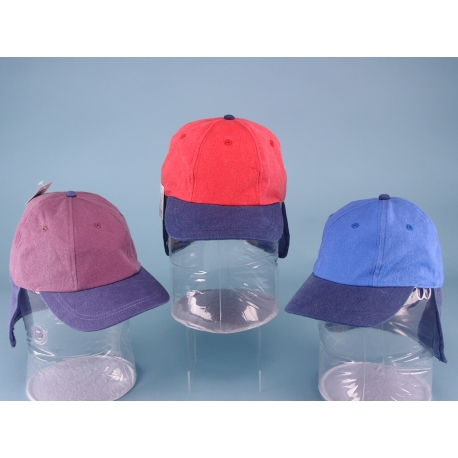 Childs Cap with Neck Flap