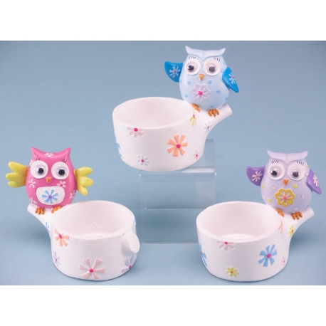 Colourful Owl Trinket Pot