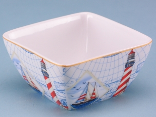 Porcelain Nautical Bowl