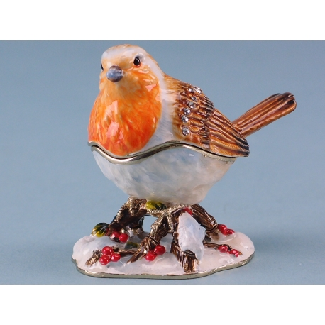 Cloisonne winter robin
