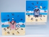 Seaside Scenes Beach Hut Clock