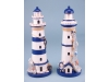 Lighthouse with net decoration - 29cm