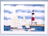 Seaside scenes - yacht & lighthouse - 33x23cm