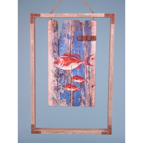 Red Mullet picture in frame - 43x29cm