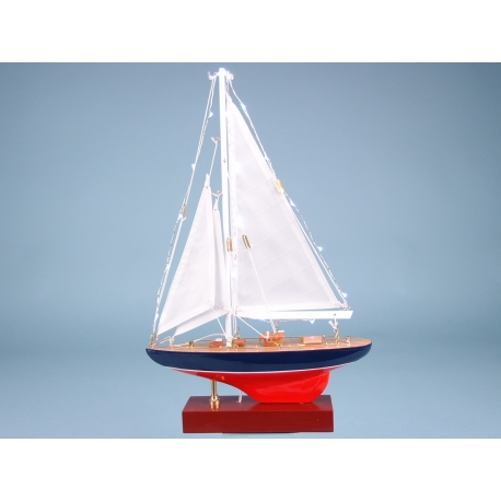 Yacht with LED lights 25cm