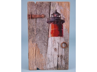 Red lighthouse keybox - 34 x 20cm