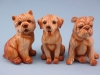 Wood Effect Dogs - 9cm