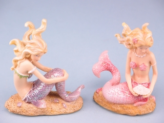 Sitting Mermaid On Sand - 10.5cm