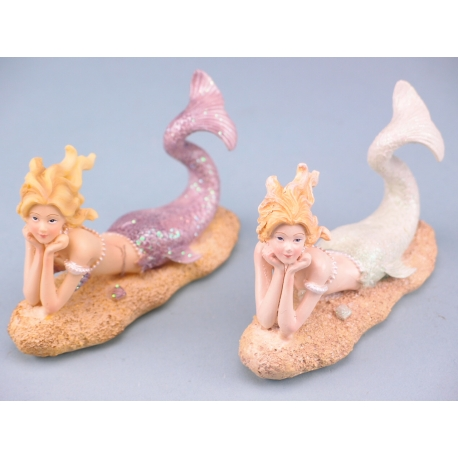 Lying Mermaid On Sand - 11.5cm