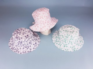 Floral Hat with Size Adjuster