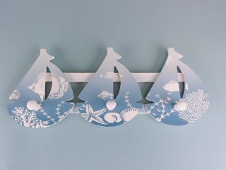 Sailboat flotilla coat hooks