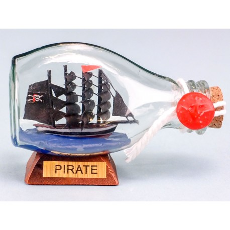 Pirate Ship in Mini Dimple Bottle