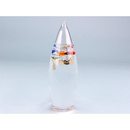 Bullet Shape Galileo Thermometer - 15cm
