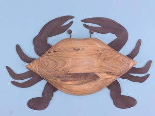 Two-tone crab wall art - 30cm x 20cm