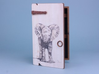 Elephant key box - 34x20cm