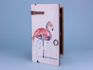 Flamingo key box - 34x20cm