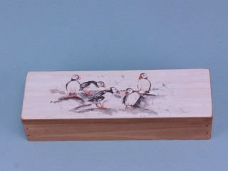 Puffin group box - 22 x 7cm
