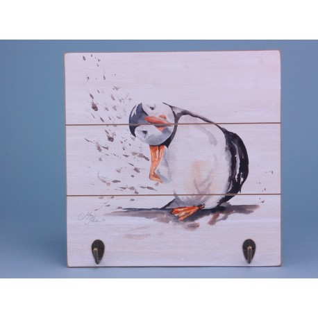 Puffin wall hooks - 30x30cm